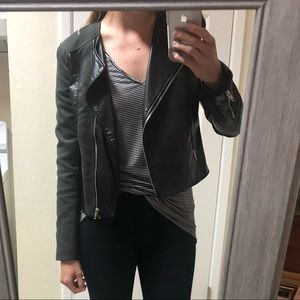 H&M suede & leather jacket. Size 8!